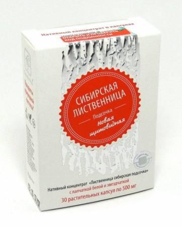 Лиственница сибирская подсочка новая щитовидная, 30 капсул в Ессентуках — купить недорого по низкой цене в интернет аптеке AltaiMag